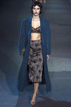 Louis Vuitton RTW Fall 2013. silk and wool. long coat. lingerie as daywear. midi. #fall2013 #paris #LouisVuitton