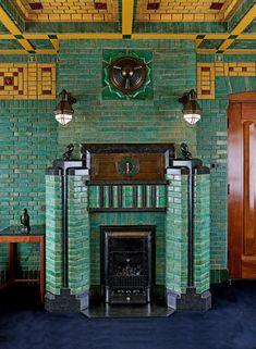 Amazing Buildings, Modern Buildings, Art Nouveau, Art Deco Fireplace, Delft, Amsterdam School, Victorian Kitchen, Rotterdam, Art Deco Furniture