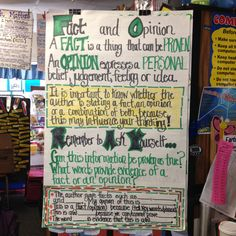 Fact and Opinion Anchor Chart with Sentence Stems (our focus was separating fact from opinion when combined). Education Quotes For Teachers, Quotes For Students, Quotes For Kids, Reading Skills, Reading Charts, Reading Lessons, Teaching Reading, Sentence Stems, Fact And Opinion