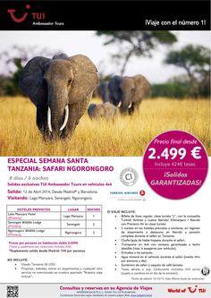 ¡Especial Semana Santa! TANZANIA: Safari Ngorongoro. Precio final desde 2.499€ ultimo minuto - http://zocotours.com/especial-semana-santa-tanzania-safari-ngorongoro-precio-final-desde-2-499e-ultimo-minuto-14/