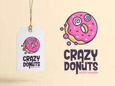 Crazy Donuts by R A H A J O E on Dribbble A simple yet playful fun logo concept for Crazy Donuts. Cake Logo Design, Food Logo Design, Web Design, Logo Food, Logo Design Services, Design Agency, Graphic Design, Logo Bonbons, Logo Branding