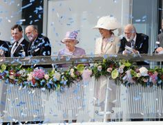 Prince Philip, Duke of Edinburgh; Queen Elizabeth II, Princess Michael of Kent and Prince Michael of Kent attend Derby day at the Investec Derby Festival at Epsom Racecourse on June 7, 2014