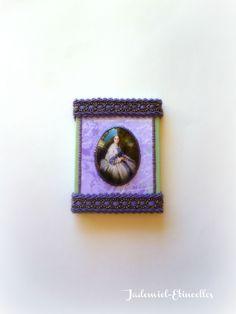 """Mini toile décorative série """" Royale Attitude : Comtesse Alexandre Nikolaevitch Lamsdorff """" n°1 : Accessoires de maison par jademiel-etincelles"""