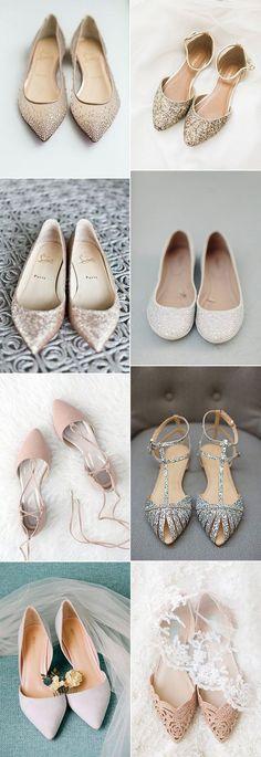 2018 trending flat wedding shoes #weddingshoes