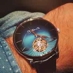Gorgeous just gorgeous !  Blue dial Venturer Tourbillon Dual Time by H. Moser & Cie @moserwatches  Have a good #weekend watch lovers !  #watch #watches #watchobsessed #watchobsession #luxurywatches #swissmade #menswatches #mensstyle #mensfashion #moserwatches #watchuseek #watchnerd#timepieces#luxury#luxurywatches#watchcollector#moserwatches#swissmade#hmoser#harrods#harrods#moserwatches#watchoftheday#tourbillon by veritime_ltd