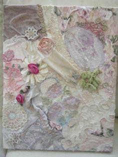 Shabby chic painting vintage  mixed media by teeztreasuretrove, $85.00