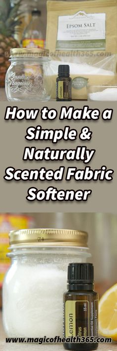 How to Make a Simple amp Naturally Scented Fabric Softener Easy to make low-cost and totally customizable these crystals will leave your laundry soft and smelling lovely. The baking soda added in will naturally make whites whiter and pull out even th Fabric Softener, Give It To Me, How To Make, Natural Medicine, Natural Health, Health And Wellness, Traveling By Yourself, Healthy Living, Stay Healthy