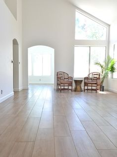 Daltile Forest Park Sugar Maple porcelain tile.  Love the tile that looks like planks of wood flooring.