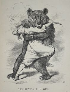 The Bear Hug tightens ! - Punch 1877, via Flickr. This Day in History: Apr 24, 1877: Russian Empire declares war on Ottoman Empire. http://dingeengoete.blogspot.com/