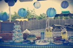 Blueberry Picking Party for a July birthday. 1st Birthday Party For Girls, Birthday Party Decorations, Birthday Ideas, July Birthday, Baby Shower Parties, Baby Boy Shower, Blueberry Picking, Blue Party, 1st Birthdays