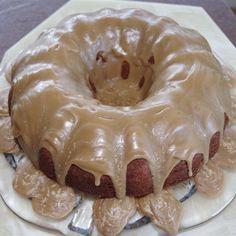 Banana-Nut Cake with Caramel Icing
