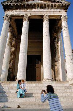 Temple of Augustus, Pula, Croatia Croatia Destinations, Croatia Tourism, Croatia Itinerary, Croatia Travel, Travel Destinations, Travel Guides, Travel Tips, Places Ive Been, Places To Go