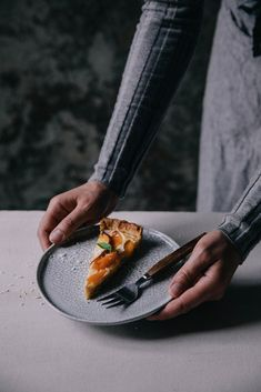 Our Food Stories // gluten-free apricot-peach tart