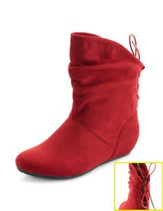 Sueded Corset-Back Boot from Charlotte Russe