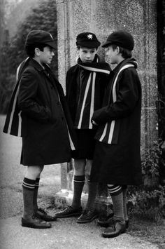 Great scarf, socks, hat and coat! Can I dress E like he is at an English boarding school?