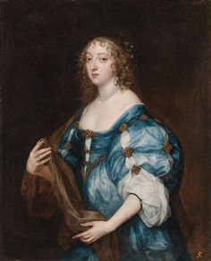 1638 Katherine, Dame d'Aubigny by Sir Anthonis van Dyck (auctioned by Christie's in 1999) | Grand Ladies | gogm