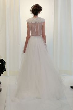 Angel Sanchez. See more dresses from Bridal Fashion Week that are just GORGEOUS from the back.