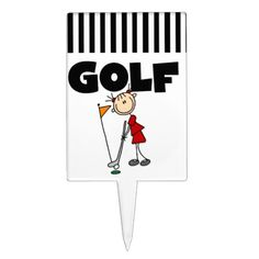 Shop Girls GOLF Cake Topper created by stick_figures. Golf Cake Toppers, Cake Picks, Golf Theme, Girls Golf, Themed Cupcakes, Stick Figures, Girls Shopping, Cake Cookies, Safe Food