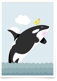 Kinderzimmerbild Orca Sam