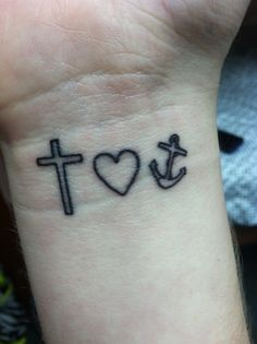 Cross, heart, anchor- Hebrews 6:19 tattoo