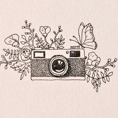 "44 Likes, 10 Comments - Marjae Cashdollar (@by_marjae) on Instagram: ""Just a little vintage camera doodle for my online photography gallery. • • • • #doodle #drawing…"""