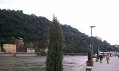 Danube, Donau, quay, Passau, Germany