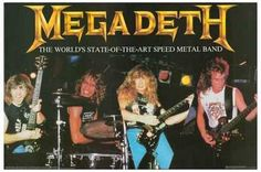 Megadeth State Of The Art Speed Metal Band Rare Poster
