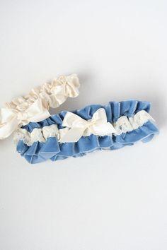 blue velvet garter - how many wedding garters should i wear - bridal garter advice from The Garter Girl