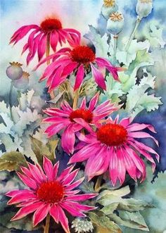 Pin by vera puspasari on flowers paint suluboya, painting, sulu boya. Watercolour Painting, Watercolor Flowers, Painting & Drawing, Paint Flowers, Watercolors, Arte Floral, Beautiful Paintings, Flower Art, Art Projects