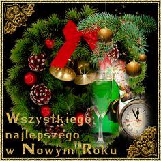 Święta Bożego Narodzenia: Animowane kartki z życzeniami noworocznymi Cute Images, Happy New Year, Christmas Wreaths, Table Decorations, Holiday Decor, Holidays, Fotografia, Christmas Time, Holidays Events