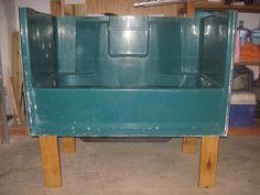 Repurposed old bathtub