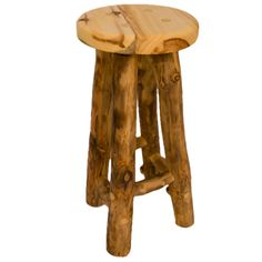 Heavy duty seat with wonderful grain and great logs for this log bar stool. Great job! http://logfurniturehowto.com/wp-content/uploads/2013/04/Bar-Stools-Aspen-TN.png