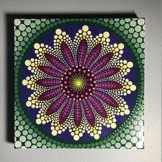 Hand Painted Mandala on Canvas, Meditation Mandala, Dot Art, Calming, Healing, #530 by MafaStones on Etsy