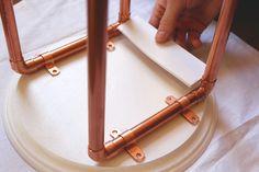 DIY Copper Leg Plant Stand
