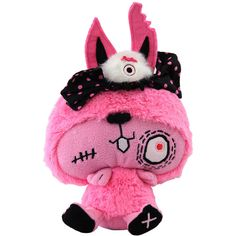 VamPET rabid rabbit, monster dolls, zombie bunny, vamplets UK ($25) ❤ liked on Polyvore featuring plushies, stuffed animals, toys, accessories and other