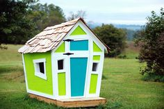 Handmade Crooked Playhouse via Etsy.