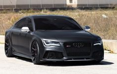 Matt Black Audi RS7