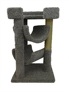 cat scratching post gray - New Cat Condos Premier Cat Scratch and Lounge, Gray -- Visit the image link more details. (This is an affiliate link) #CatScratchingPost