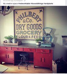 Decorative Arts Spirited Hand-painted Vintage Design Farmers Market Sign Antique Wood Dresser High Quality