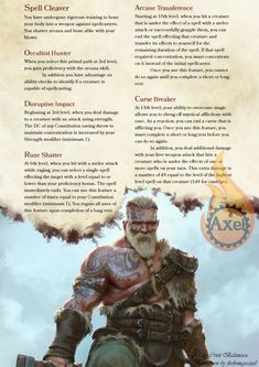 Path of the Spell Cleaver. A Barbarian who has turned himself into a weapon against magic.Homebrewed for Dungeons and Dragons Edition by me. Artist is tagged on the page. Dungeons And Dragons Classes, Dungeons And Dragons Homebrew, Character Creation, Character Art, Barbarian Dnd, Burning City, Dnd Classes, D D Characters, Fantasy Characters