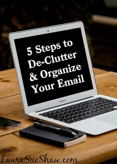 5 steps to de clutter and organize your email inbox laurasueshawcom