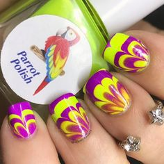 """205 Likes, 25 Comments - Jennifer (@4luvofnailart) on Instagram: """"Sweet Aly @fyreblossomnails got me and a bunch of other awesome ladies to do a neon psychedelic…"""""""