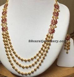 Ruby Floral Long Chain - Jewellery Designs