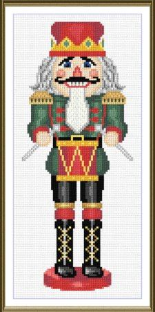 Embroidery Stitches Patterns The Kings Drummer cross stitch pattern. - The Kings Drummer cross stitch pattern. This design uses only full cross-stitches Simple Cross Stitch, Cross Stitch Kits, Counted Cross Stitch Patterns, Cross Stitch Designs, Cross Stitch Fabric, Cross Stitching, Cross Stitch Embroidery, Learn Embroidery, Embroidery Patterns