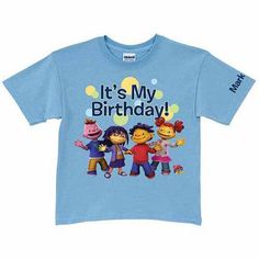 Personalized Sid the Science Kid It's My Birthday Toddler Boy Light T-Shirt, Blue, Size: 3 Years
