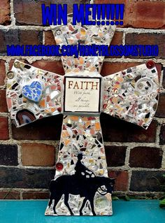 Cowboy Mosaic assemblage cross You could win this!!! Check out www.facebook.com/honeyblossomstudio for details!