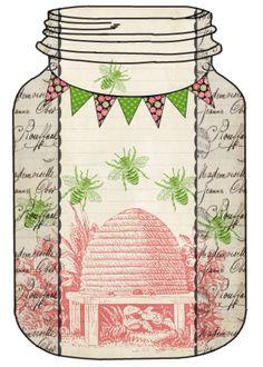 (Free Printable Honey Bee Mason Jar Tags & Recipes)