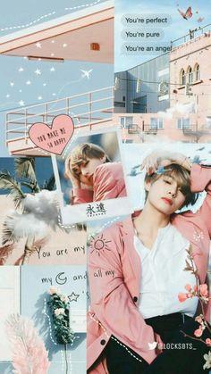 ˗ˏ ˎ˗ ❀ bts lockscreen, bts wallpaper iphone taehyung, Bts Taehyung, Bts Bangtan Boy, Bts Boys, Taehyung Fanart, Aesthetic Collage, Kpop Aesthetic, Pink Aesthetic, Aesthetic Qoutes, Bts Wallpaper Iphone Taehyung