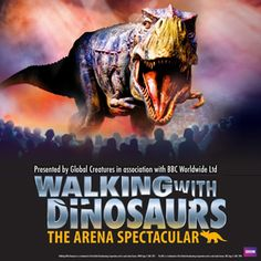 Walking With Dinosaurs - The Arena Spectacular is a production based off of the award-winning BBC Television Series and is coming to San Diego after its 2007 sell out tour.