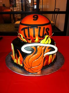 Miami Heat Birthday cake by yuMM
